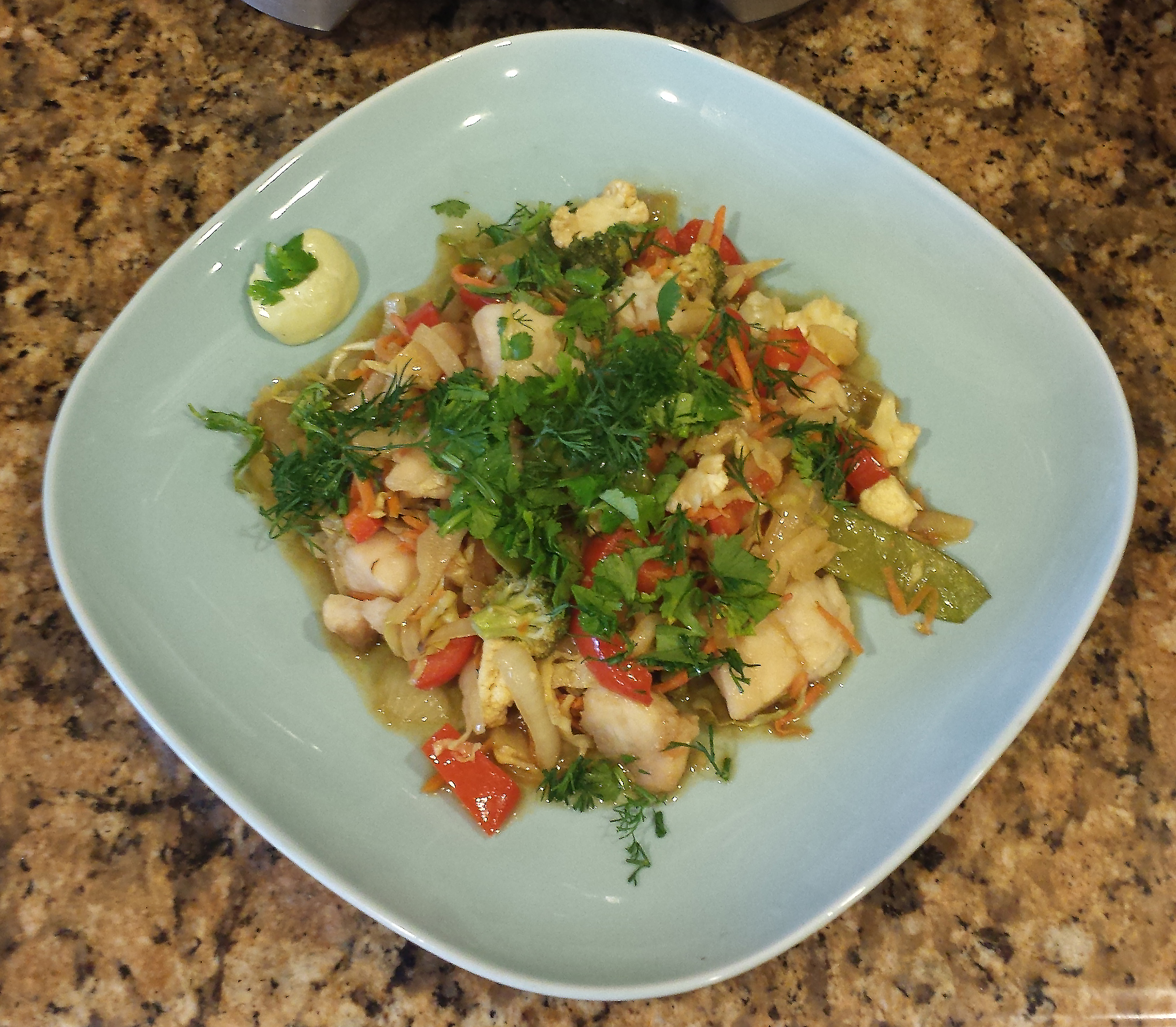 Actifry Fish and Vegetable Stir Fry