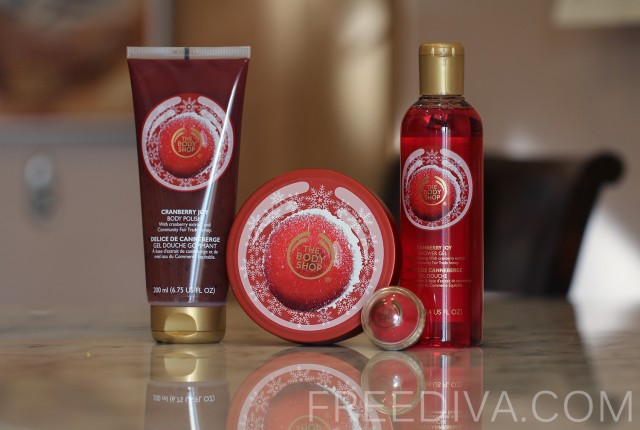 Festive Deluxe Cranberry Joy Gift Set, The Body Shop