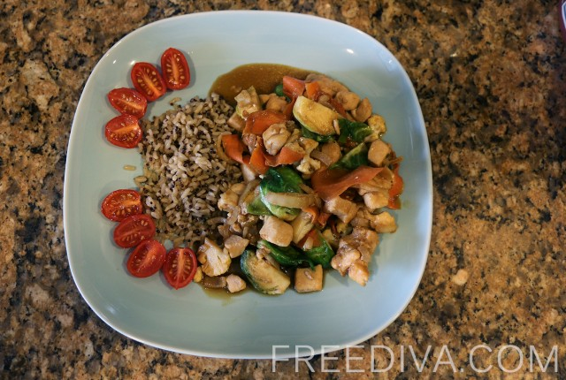 Chicken Breast & Mixed Vegetables Stir Fry
