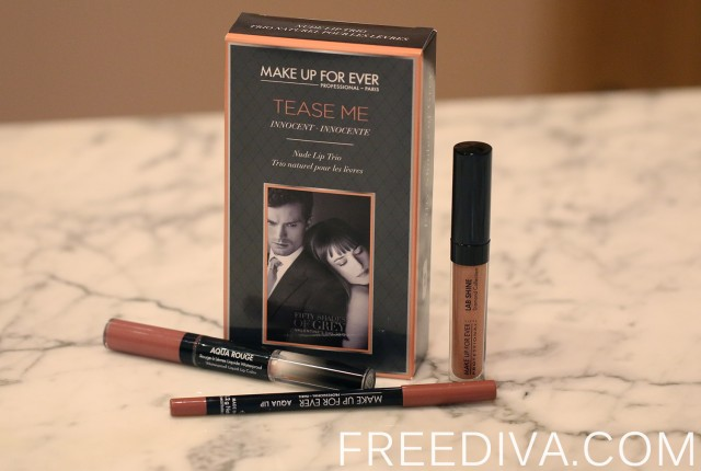 Tease Me Lip Set in Innocent, Make Up For Ever, Fifty Shades of Grey