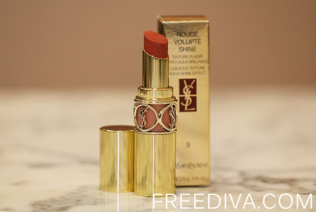 "Yves Saint Laurent, YSL, Rouge Volupte Shine Lipstick in 9 ""Nude in Private"""