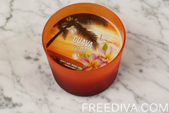 Guava Colada 3-Wick Candle Bath & Body Work