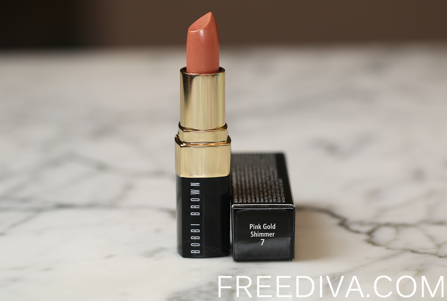 Bobbi Brown Shimmer Finish Lip Color Pink Gold Shimmer Sandy Nudes Collection