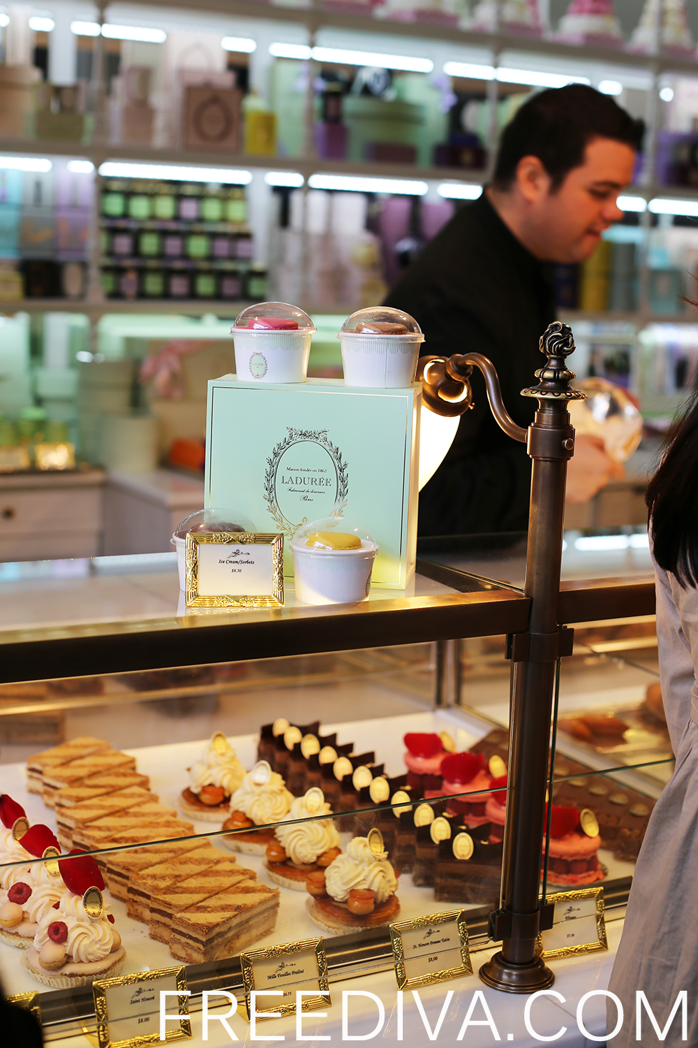Shopping at Laduree in New York City NYC