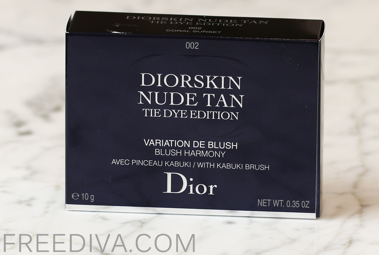 Dior Diorskin Nude Tan Blush 02 Coral Sunset Tie Dye Collection