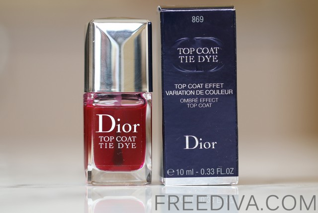 Dior Vernis Nail Lacquer in 869 Top Coat Tie Dye