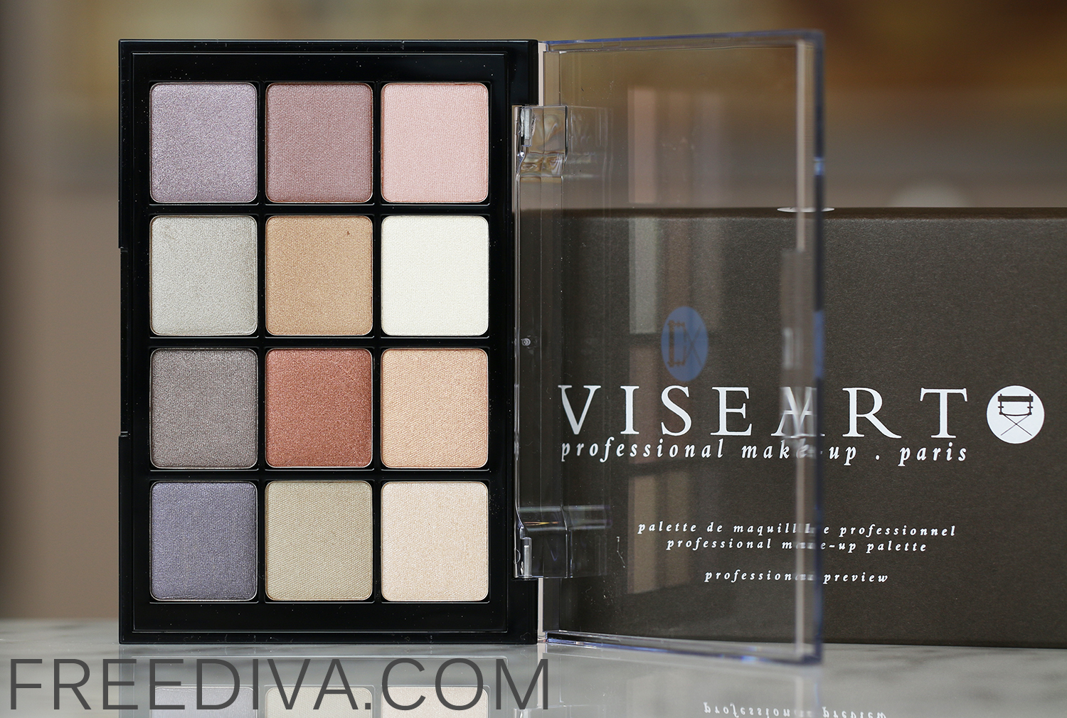 Viseart Eyeshadow Palette 06 Paris Nude